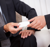 Developing a successful business card speech