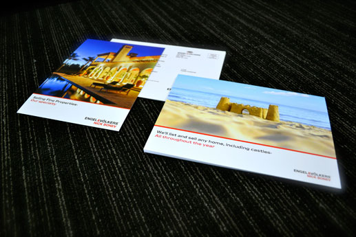 printing postcards, bribe your customers