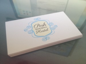 Some matte finish business cards