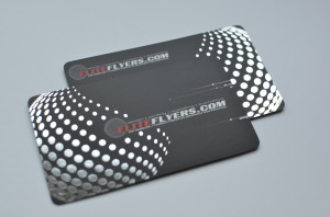 foil stamped, silk laminate business cards
