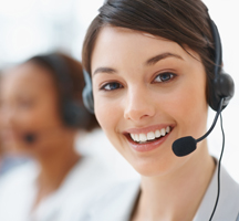 A customer service representative