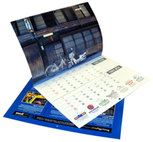 Custom printed wall calendar