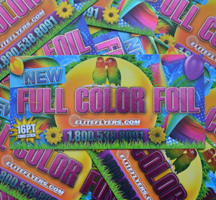 full color foil printing on 16pt card stock