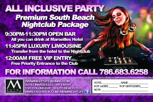 A flyer for a Miami night club