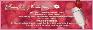 Valentines day extraviganza ticket
