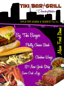 An example of a flyer for food