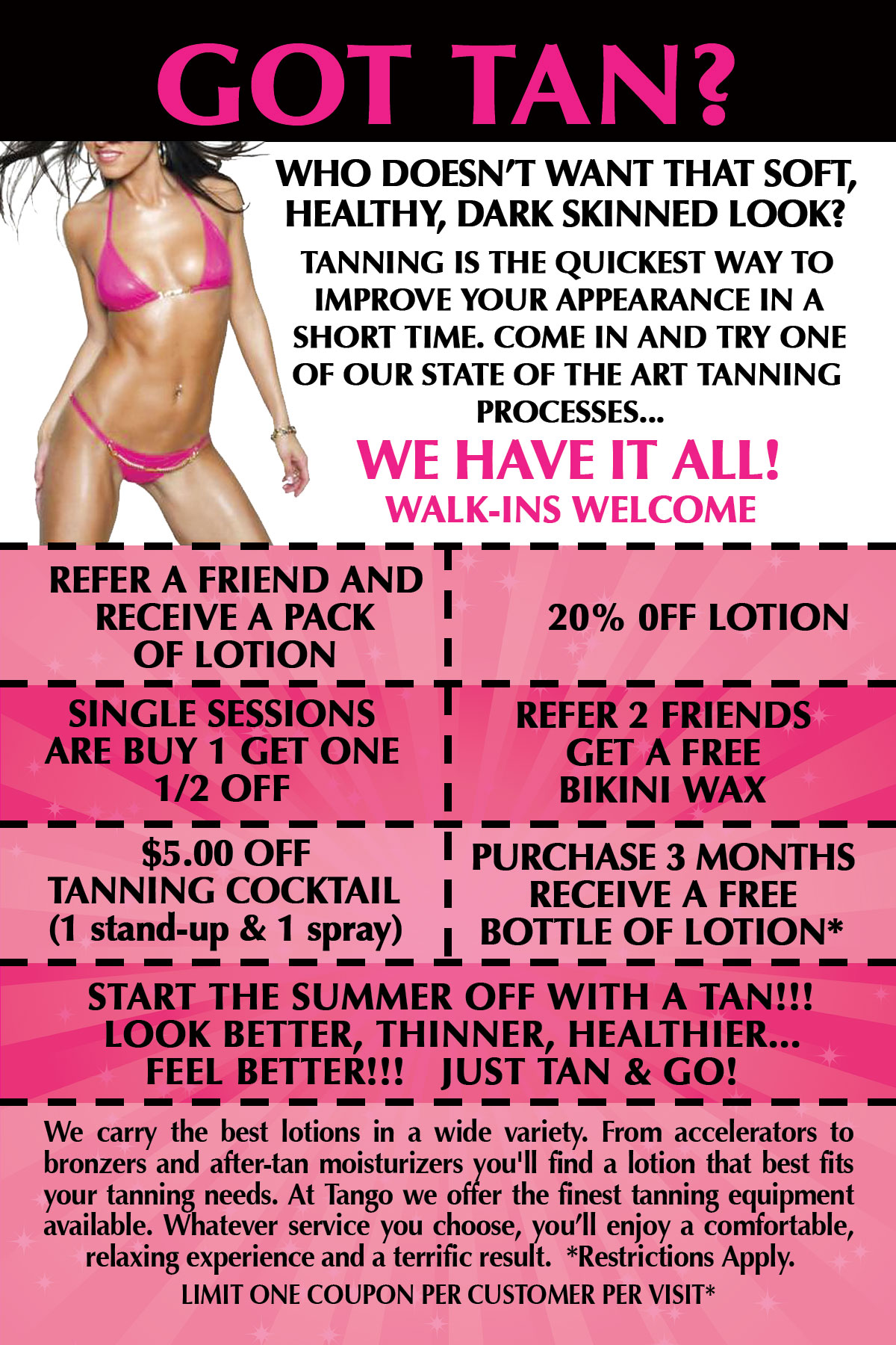 Flyers for Tanning Salons Elite Flyers