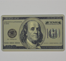A cool 100 dollar bill business card