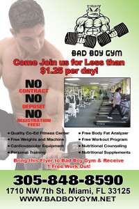 An example of a flyer for a gym