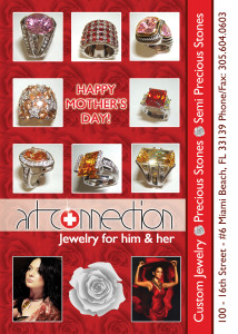 A flyer for jewlery on Mothers Day