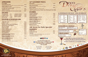 A custom printed menu, high quality printing, EliteFlyers.com