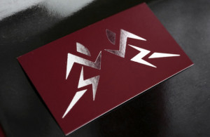 Silk cards with silver foil stamping, business card printing, EliteFlyers.com