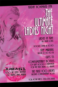 A flyer for ladies night, high quality flyers, EliteFlyers.com