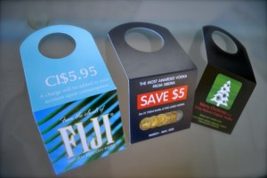 Bottle neck hangers, custom printing, design a bottleneck hanger