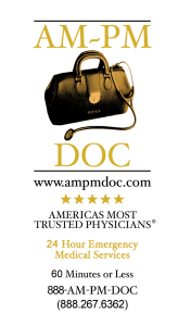 A rack card for doctors