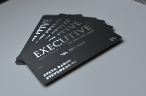 Silk Laminated Foil Stamped .125 business cards