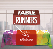 Table Runners Dye Sublimination Printed in Full Color on Premium 9oz Polyesther Farbic.