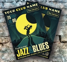 Jazz and Blues Postcard