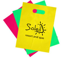 custom printed shopping bags, customized plastic bags, EliteFlyers.com