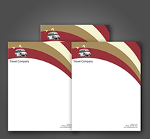 Letterhead Printed in Full Color on 70lb White Offset Stock on 1 or 2 sides.